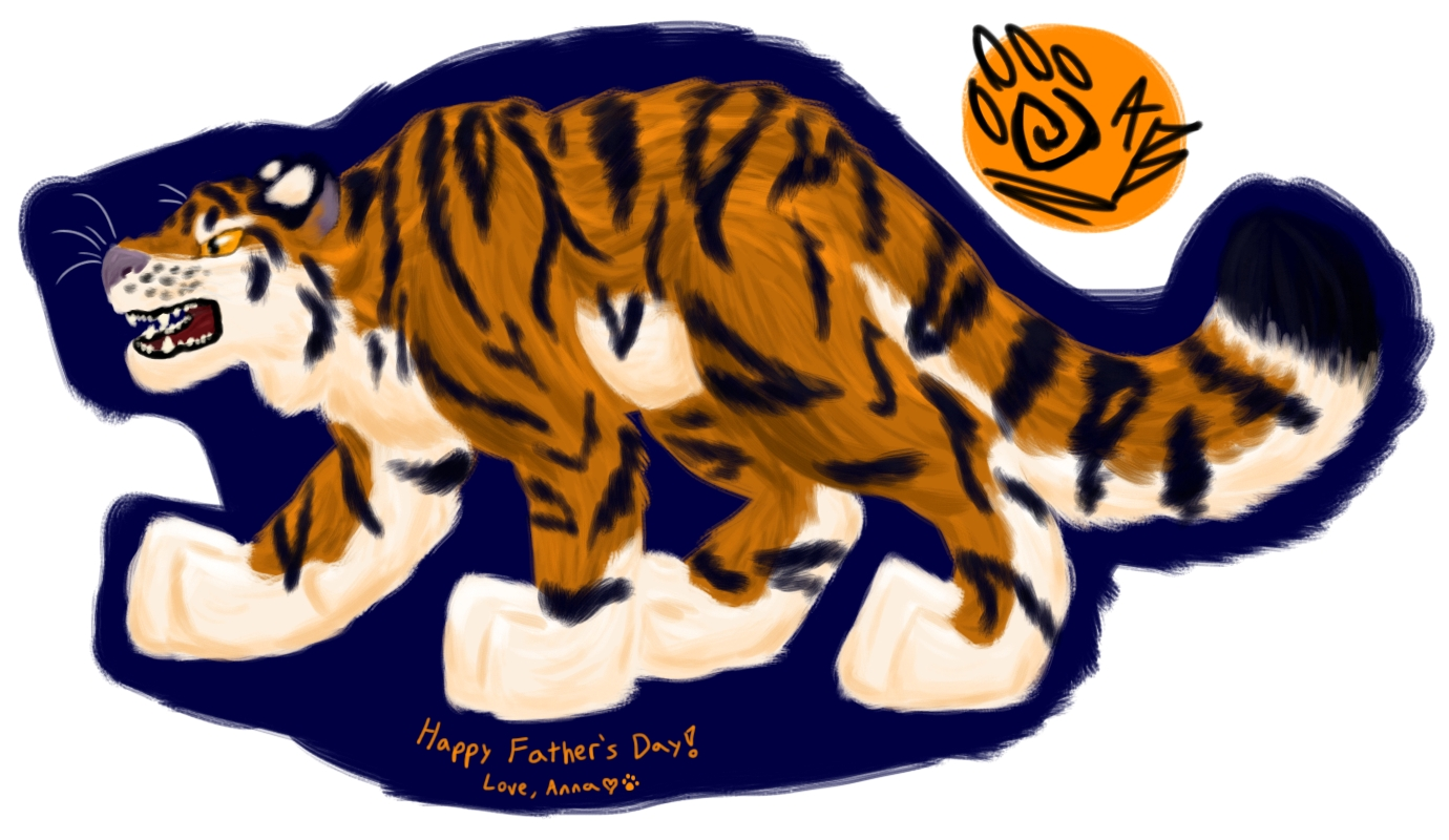 fathers day tiger painting